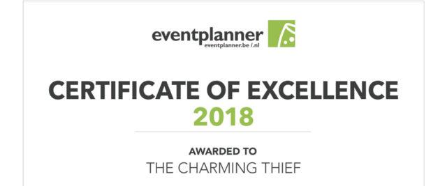 Award voor beste eventbedrijf Benelux - The Charming Thief